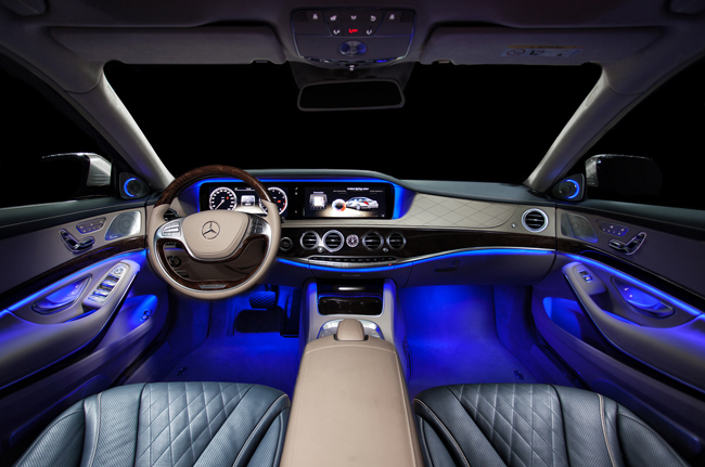 2013 Mercedes Benz S Class Interior LED Reclining Rear Seat Blue