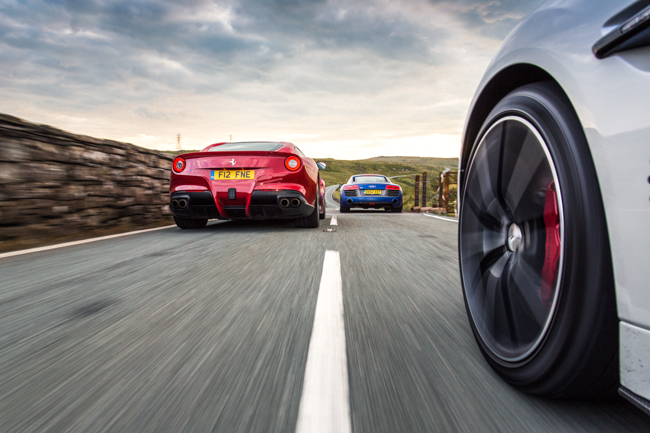Aston Martin Vanquish Ferrari F12 Audi R8 V10 Plus
