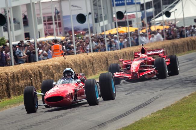 Jon Surtees and Kimi Raikkonen Goodwood Hill Climb FoS.jpg