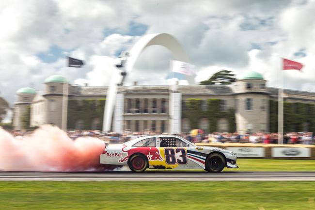 Freisacher Burnout Red Bull Nascar Goodwood House Smoke.jpg