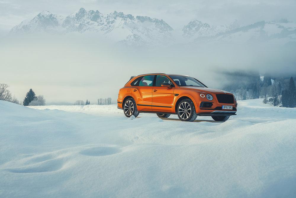 Orange Ski Run