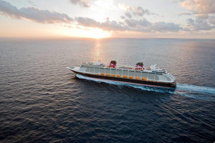 Disney Cruise Line ship at sea