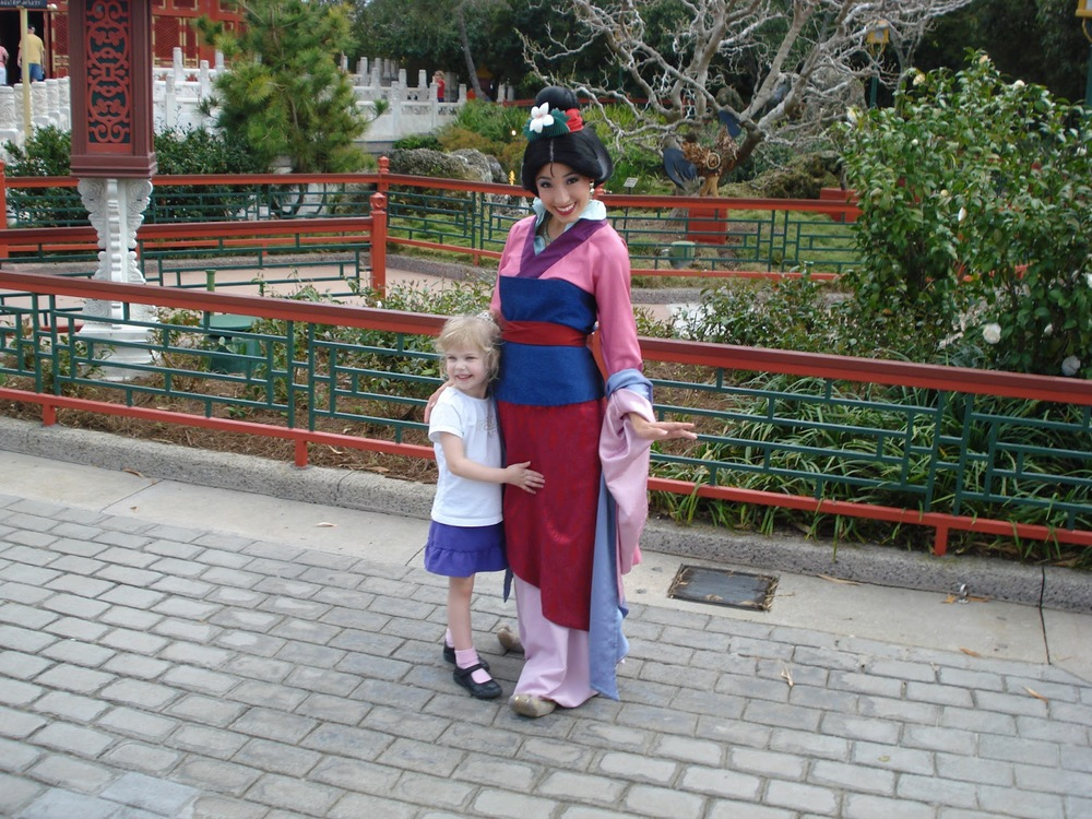 Mulan at the China pavilion in Epcot