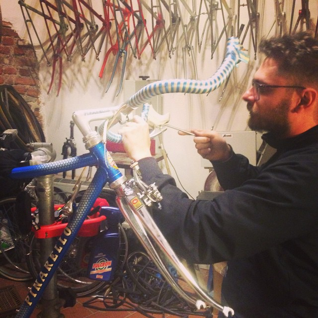 Time to get cracking on our #pinarello #prologo #campagnolo #crecord #timetrial #lowpro #columbus #columbusslx #cinelli #benotto #sanmarco #fixedforum