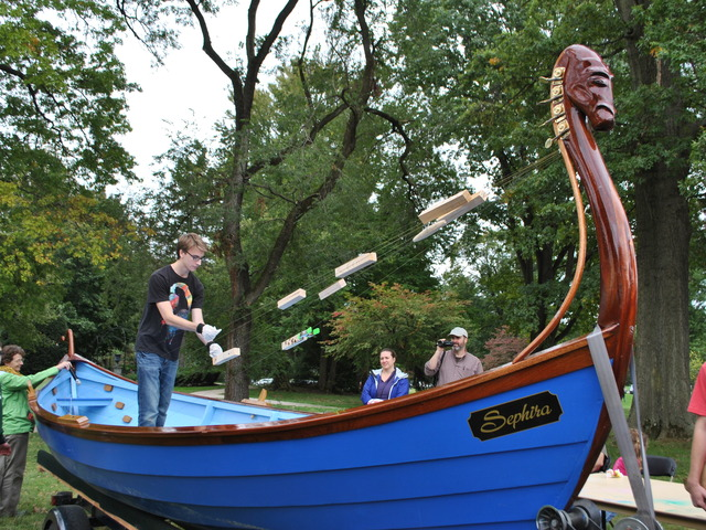 Sephira, the musical ark, is a St Ayres skiff which has been adapted to play whale music!
