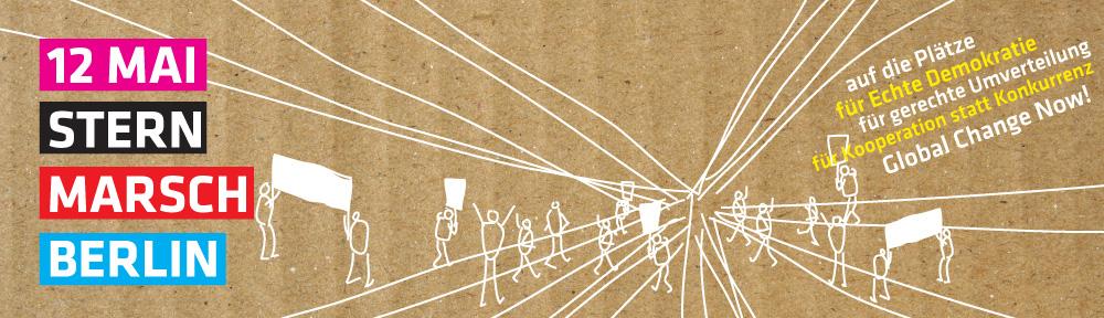 via  12maiberlin.org        Ich nehme am 12. Mai am Sternmarsch in Berlin bei und vertrete meine Vorstellungen und Vorhaben für mehr Zufriedenheit in einer menschlichen und gerechten Welt als Mitglied der Initiativen Frühlingsmärchen und InnovativeMItte.