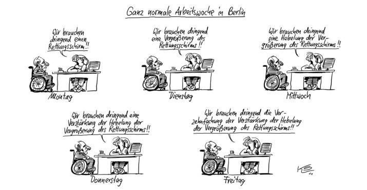 via  tagesspiegel.de        Karikaturist Klaus Stuttmann: Merkel in Minuten - Stadtleben - Berlin - Tagesspiegel