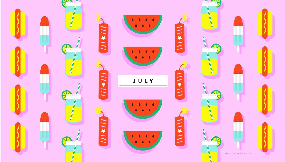 Download July Desktop Wallpaper Here