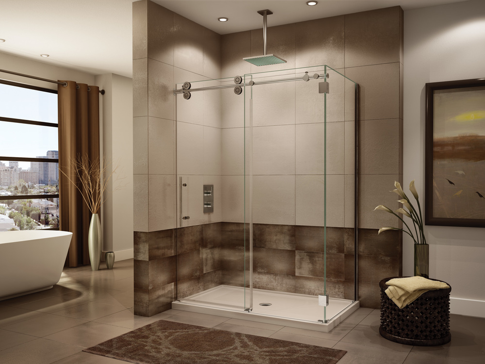 "Fleurco ""Kinetik"" Glass Shower Doors"