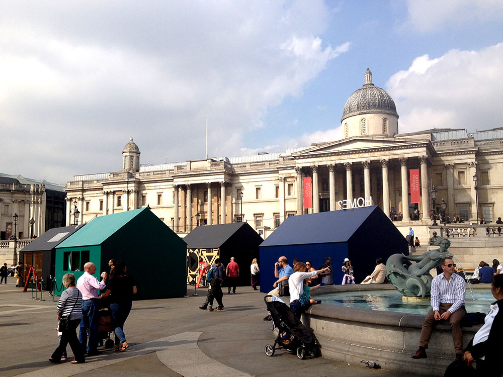 Airbnb's '  a place called home  ' in   Trafalgar Square