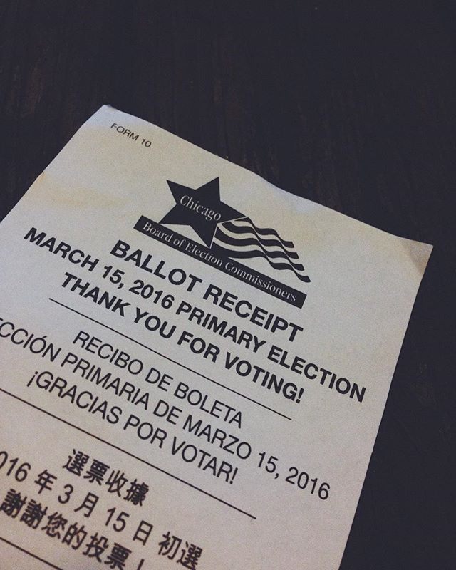 Sick, not registered and still managed to vote. Get out there people!