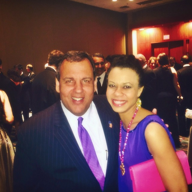 Yep. That's me and Gov. Chris Christie. My husband almost passed out when he saw the photo. Ha!