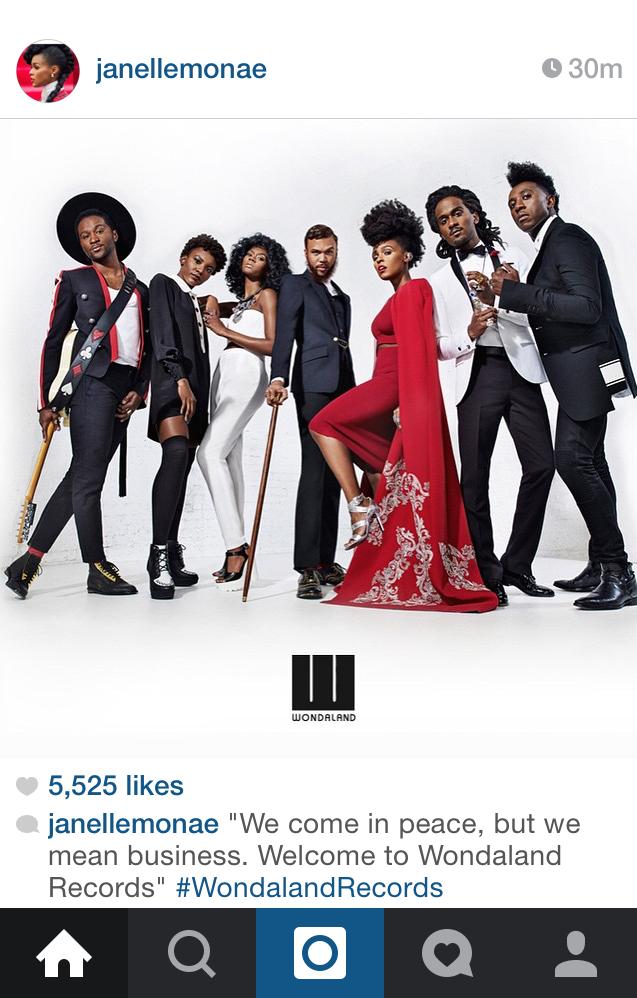Screenshot taken of Janelle Monae's Instagram post