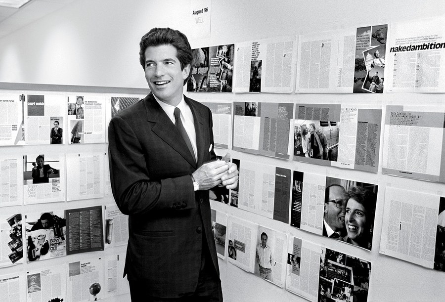 image of John F. Kennedy, Jr. via  VanityFair.com