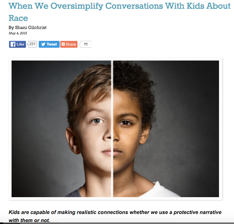 """When We Oversimplify Conversations With Kids About Race"" - Role Reboot"