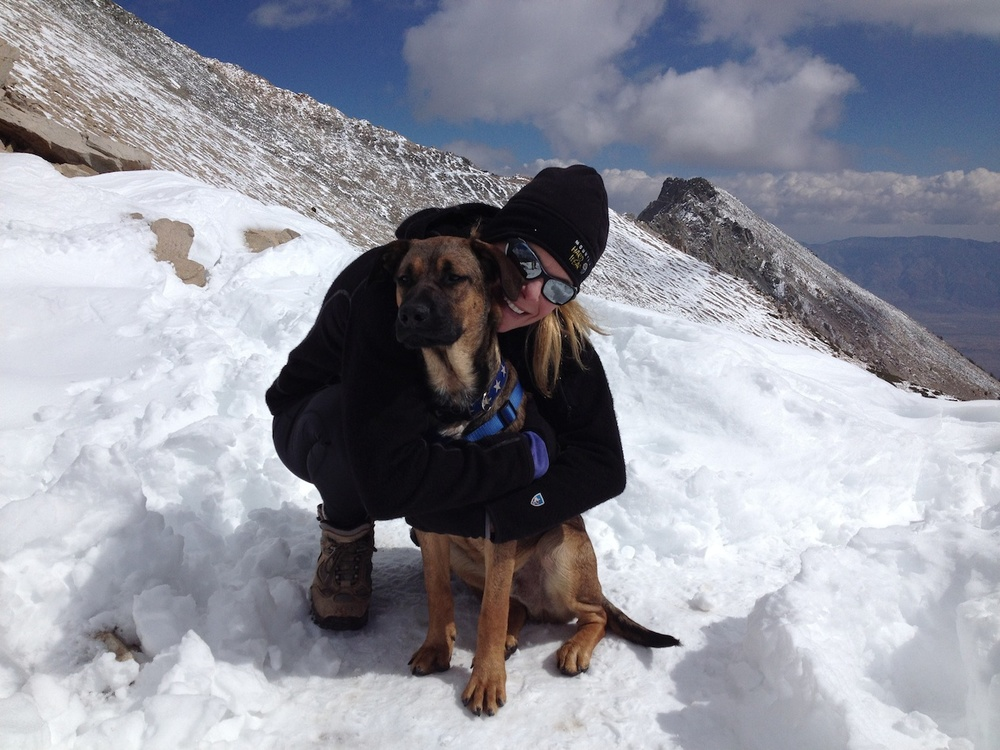 Strider and Indy on Kearsarge Pass