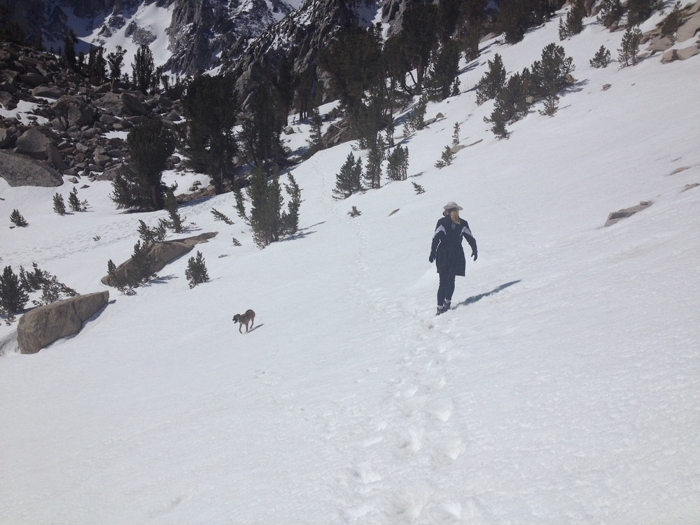 Snow near Heart Lake on way to Kearsarge Pass, May 13, 2014