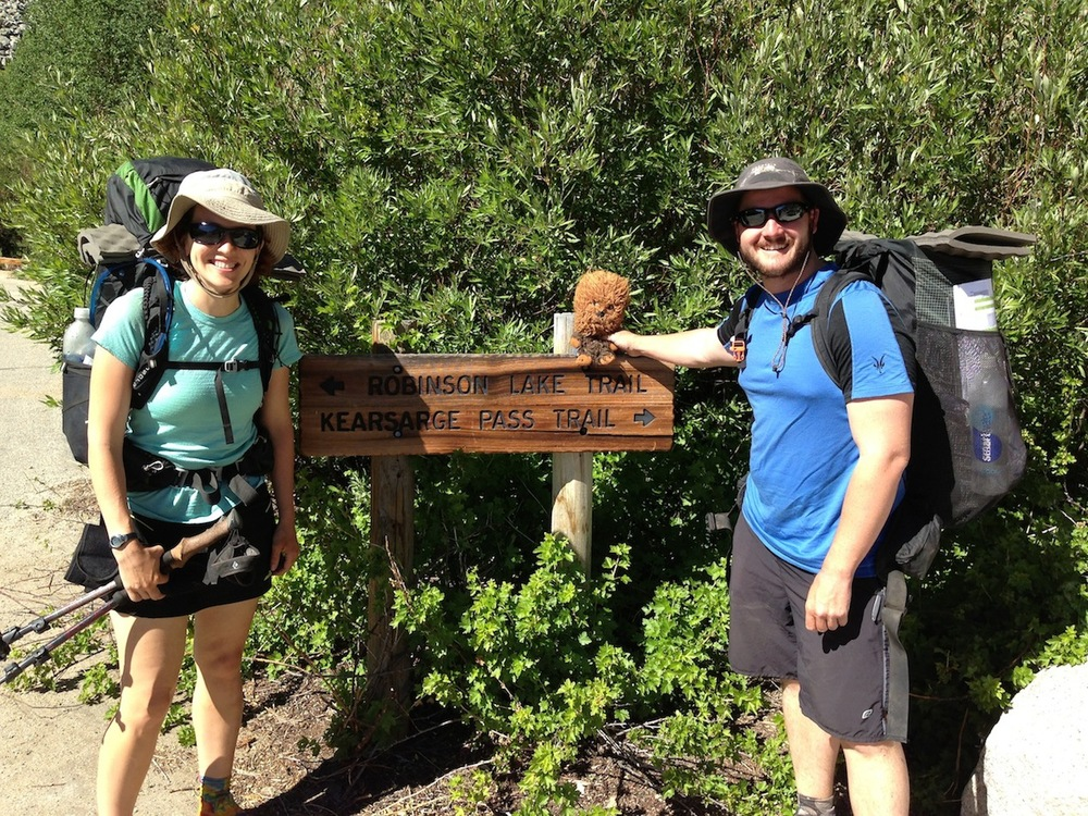 PCT: Bull Moose and Uncle Sue with Chewie in late June 2014