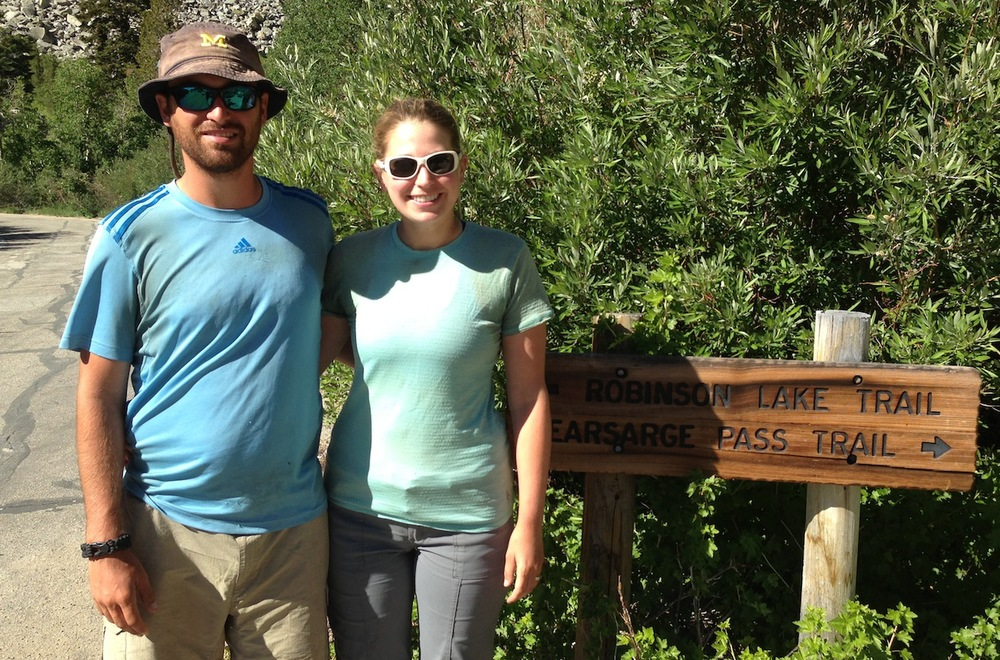 JMT: Jason and Amanda, two strong hikers from Michigan, on July 3