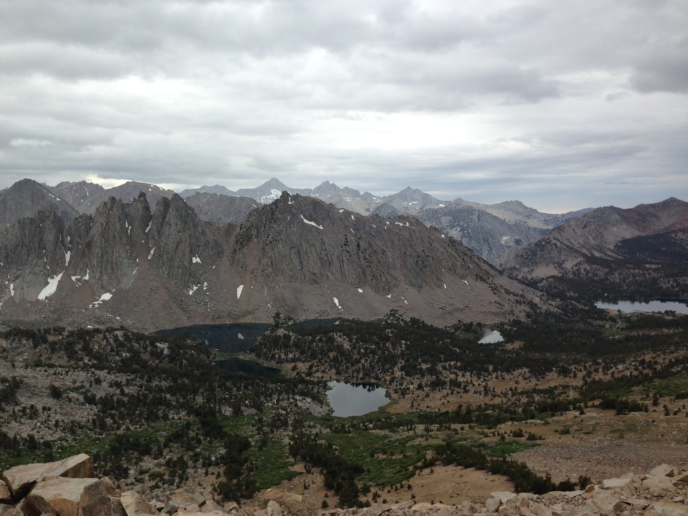 Ominous clouds west of Kearsarge Pass on July 7