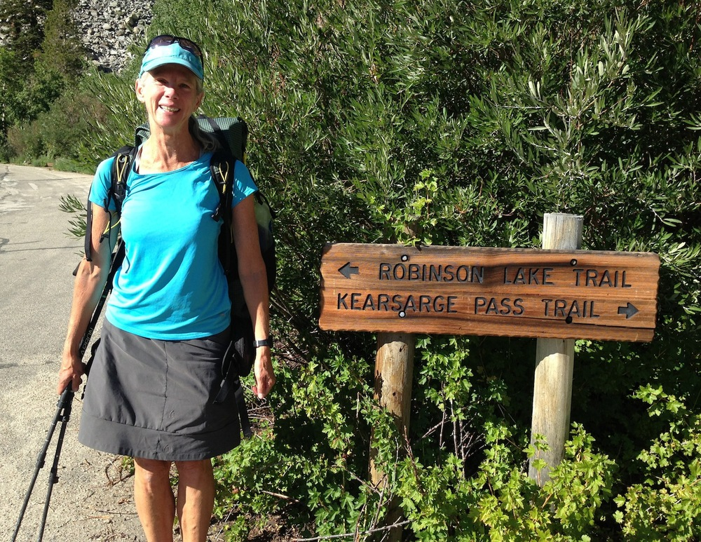 Veteran Alaska hiker Alison is ready to hit the trail over Keasarge Pass and head north after her second stop at the Base Camp this summer. She's doing the yoyo JMT !!!