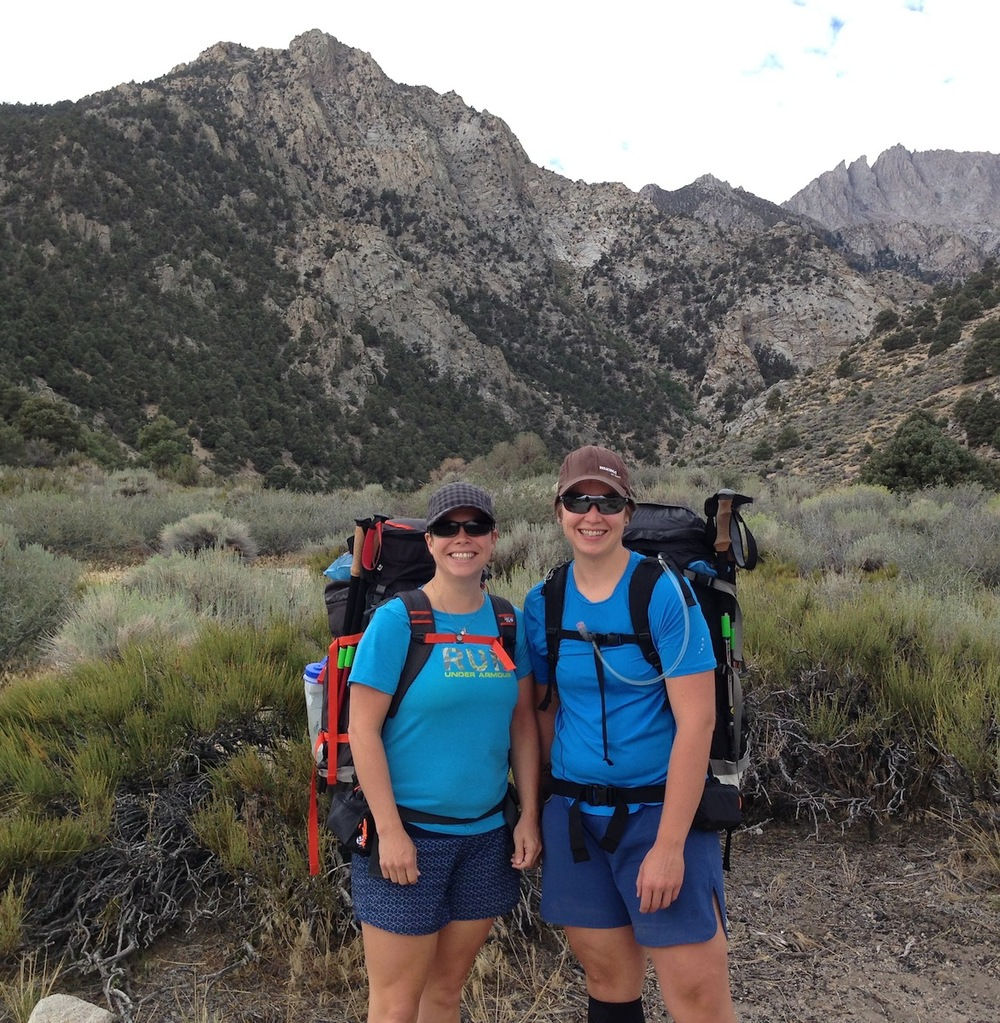Elissa and Kate are ready to head over Shepherd Pass to go NOBO on the JMT to Yosemite. Come back and visit the Base Camp!