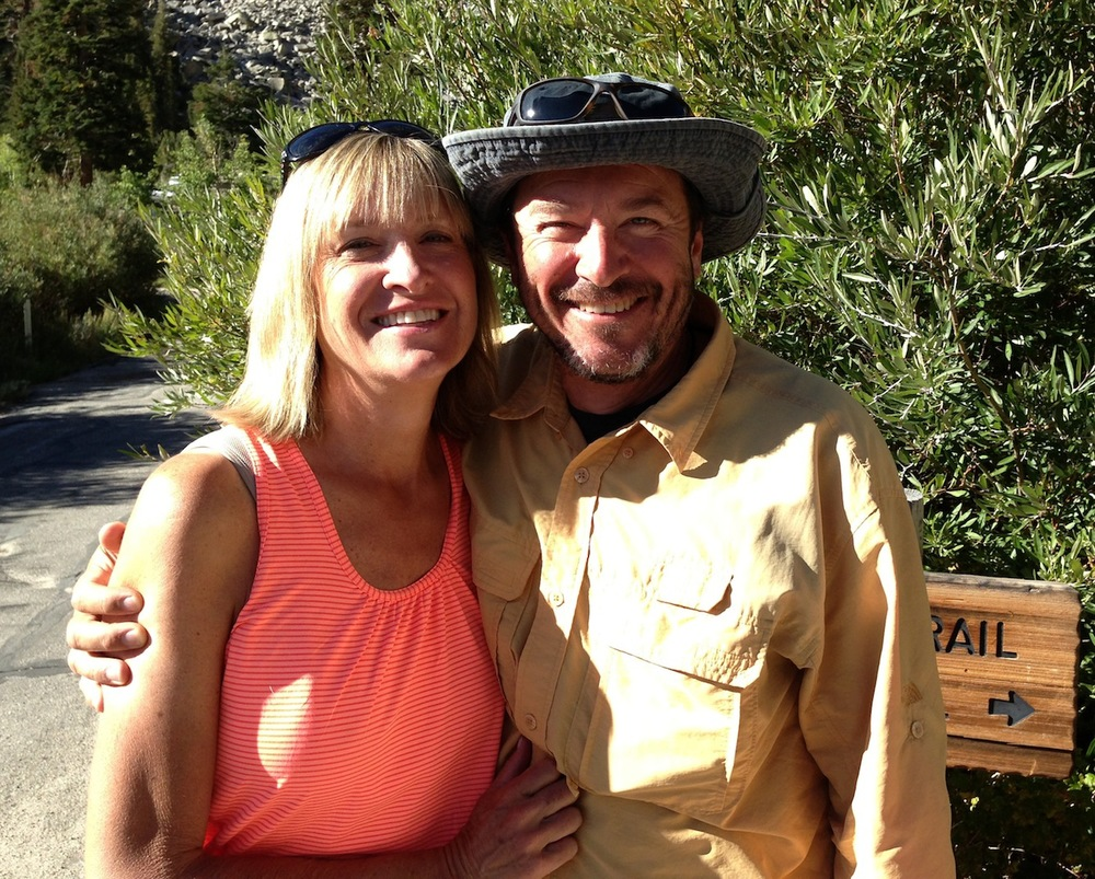 Diane and Bobby at the trailhead. What a couple!
