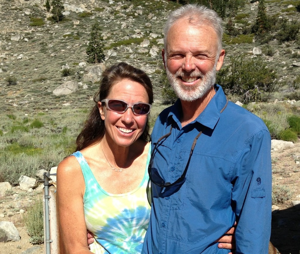 JMT hikers Noni and Craig from Washington on Aug. 13. Come back and visit the Base Camp!