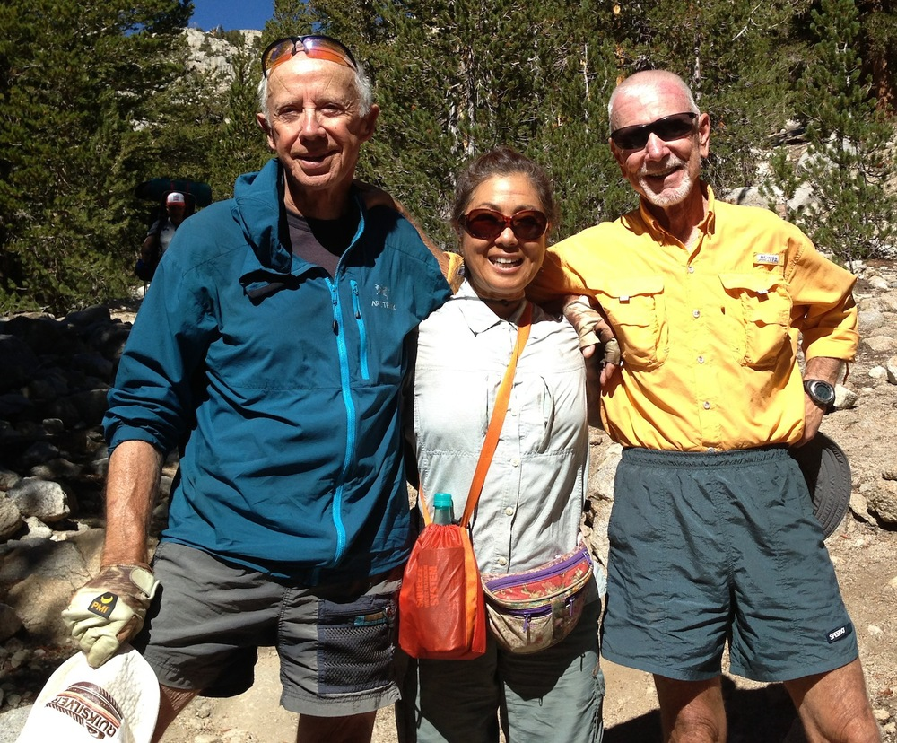 JMT hikers Tinman, Jeanne and Bob are rested and ready for Whitney after some R&R at the Base Camp. See you in a few days!