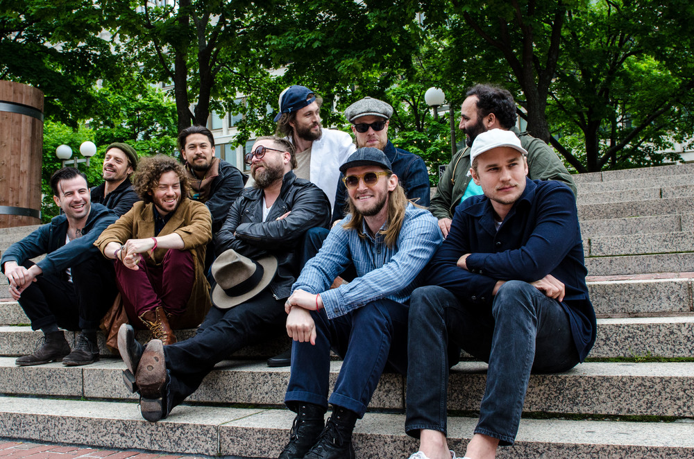 Portrait of Edward Sharpe at Boston Calling 2014