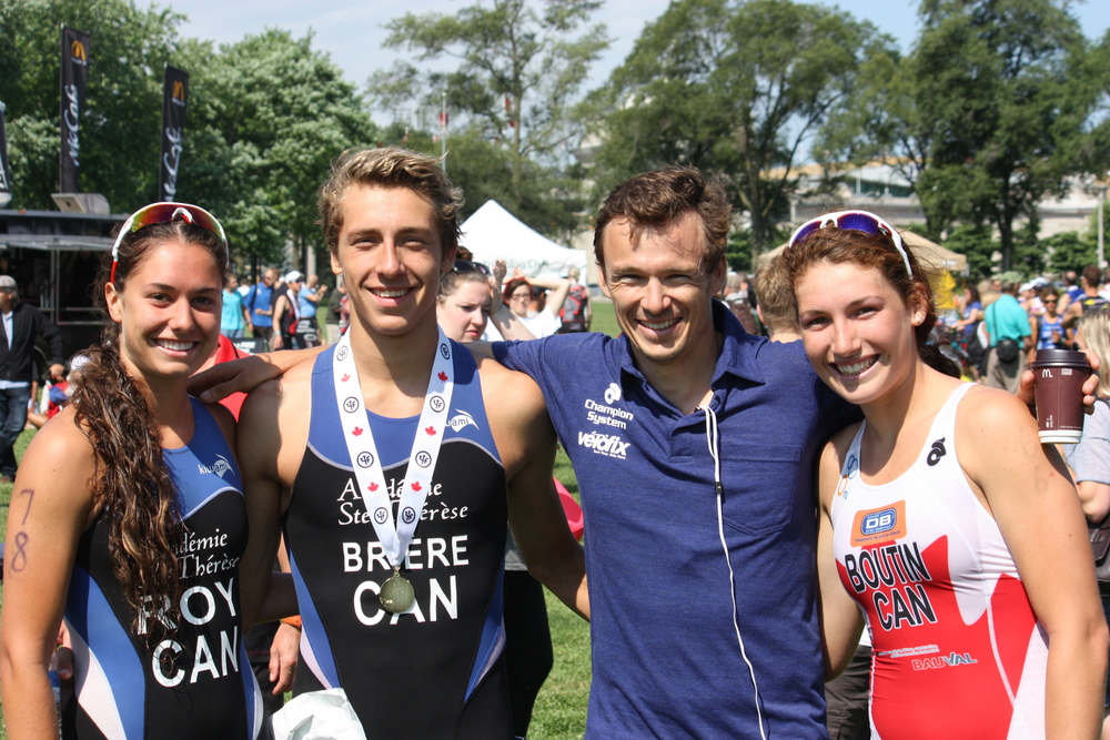 Moment avec Simon Whitfield.