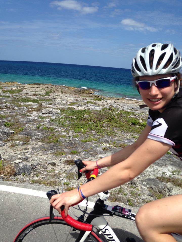L'île de Cozumel est de 60km et notre parcours est de le faire deux fois lors de nos sorties en vélo.