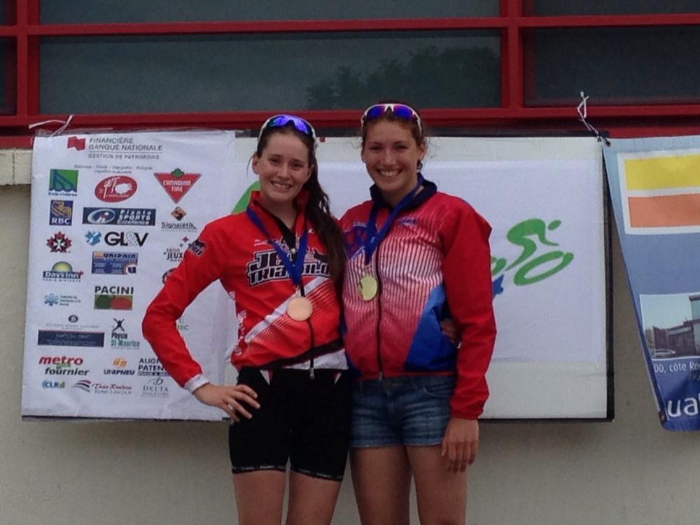Podium juniors élites filles, avec Annie-Kim Labarre ( 3ème ).