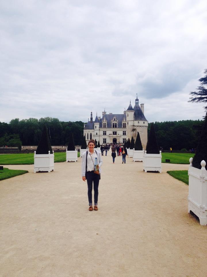 Visite d'un château de la Loire avec ma famille française. France.