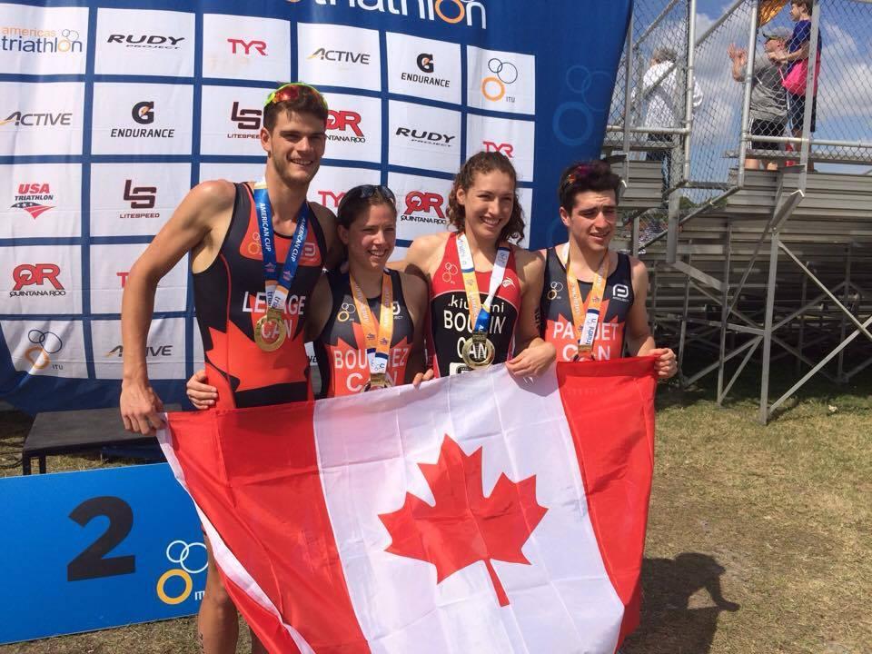 L'or et donc champion des relais nord-panaméricain 2017
