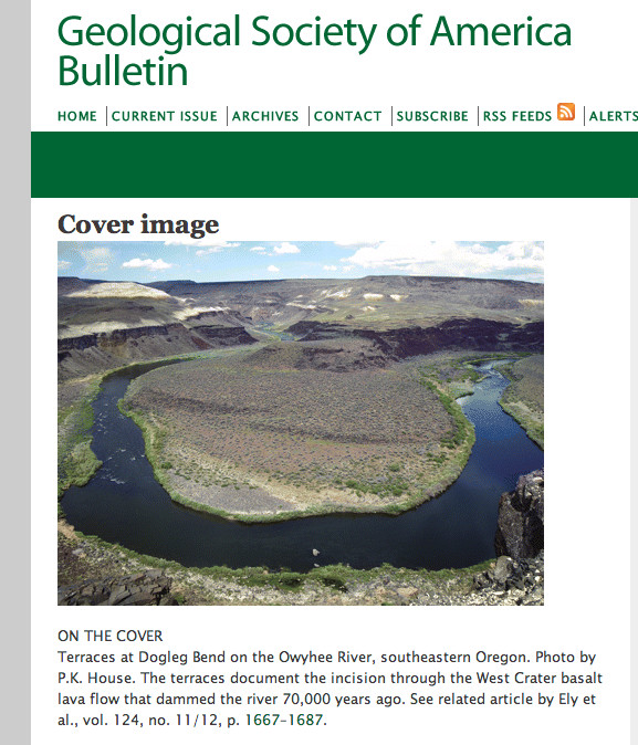 My photo made the cover, but I am too cheap to subscribe to the print edition... http://bulletin.geoscienceworld.org/cgi/content/full/124/11-12/1667?ijkey=2S9...