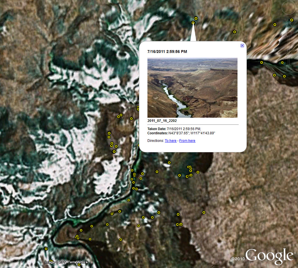 Owyhee River Project. ~1375 web-rez photos. Now in kml form. Go wake up the kids.