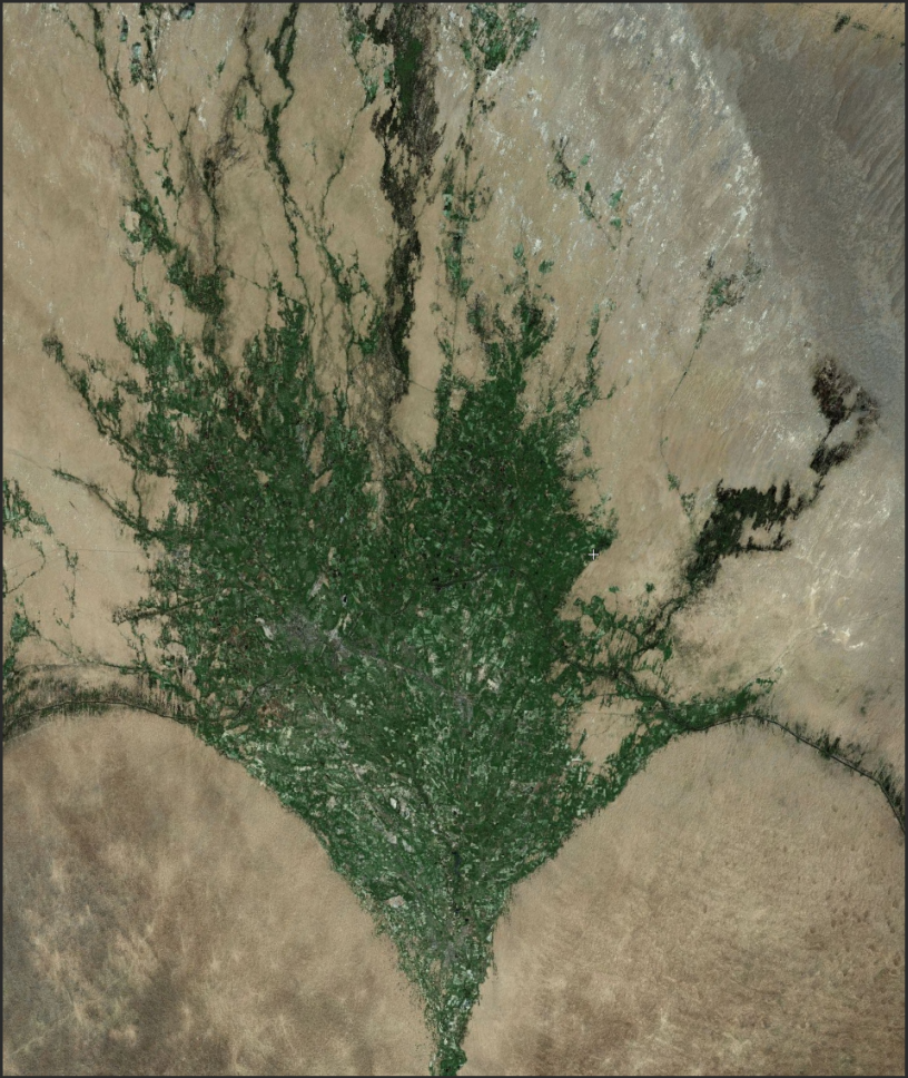 Pathological palimpsests: desert alluvial fan irrigation