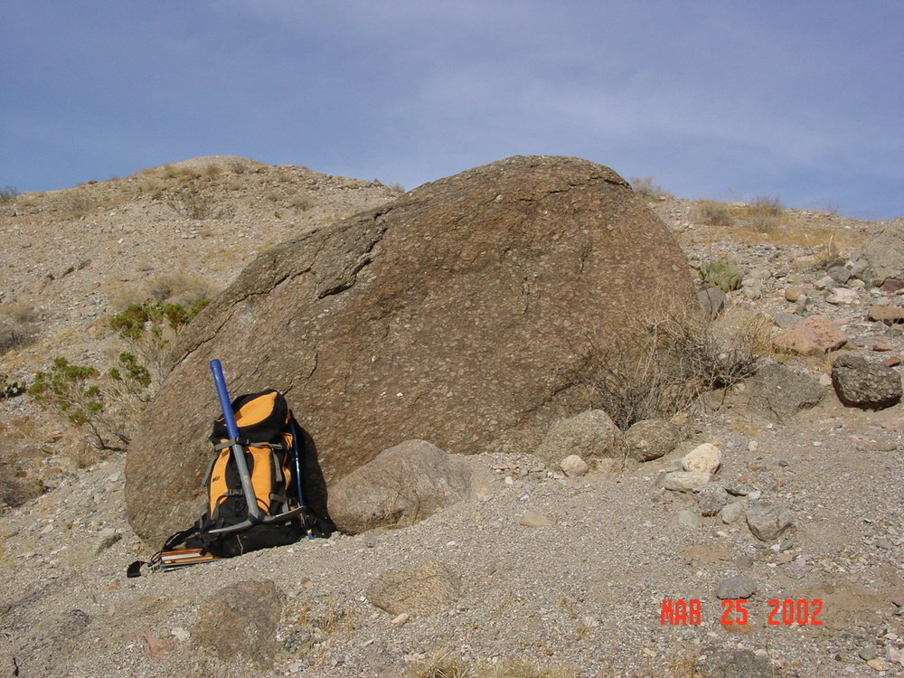 Big Boulder in the Pyramid Gravel