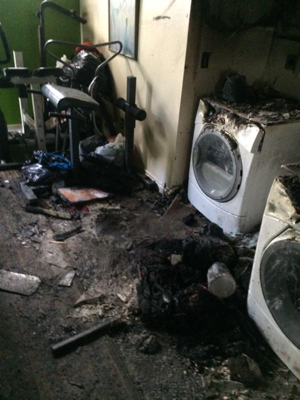 Burnt Laundry room
