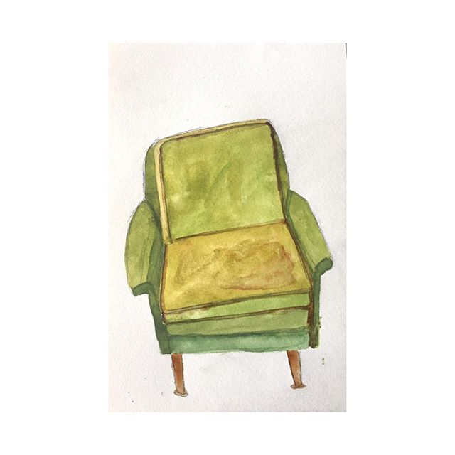 The chair that leans but never breaks. . . . #100beautifulthings #100dayproject #the100dayproject #womenwhodraw #womenwhopaint #thefirst100days #illustration #watercolor