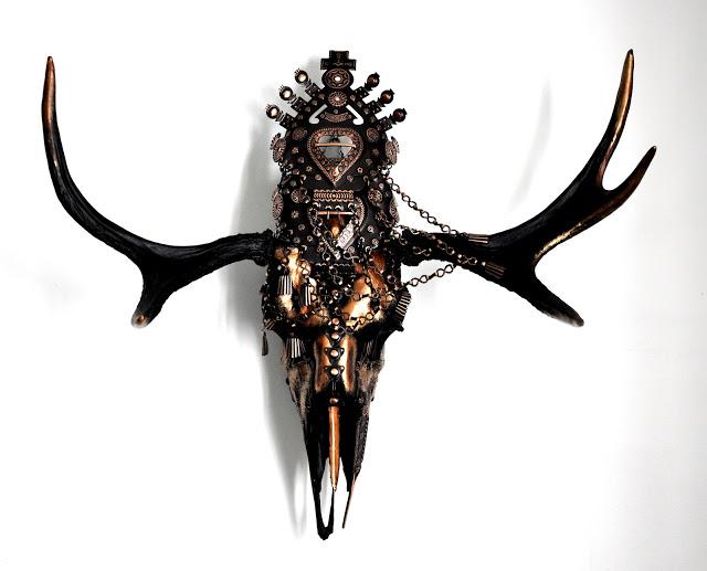 """""""Temyn"""" - Skallkonst av  Petra Shara Stoor - www.skullartistry.com"""