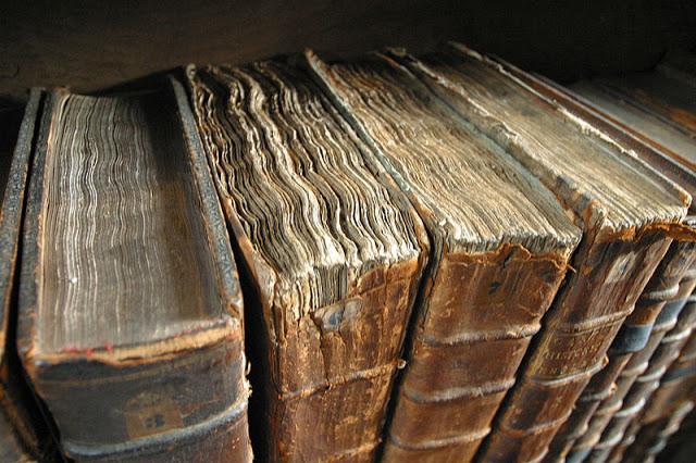 Ett bibliotek av gamla böcker...