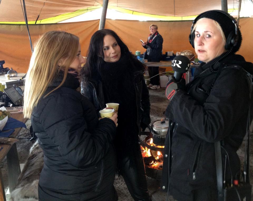 Jag och min kära syster Janina bli intervjuade av Charlotta Cederlöf för Radio Gävleborg P4.