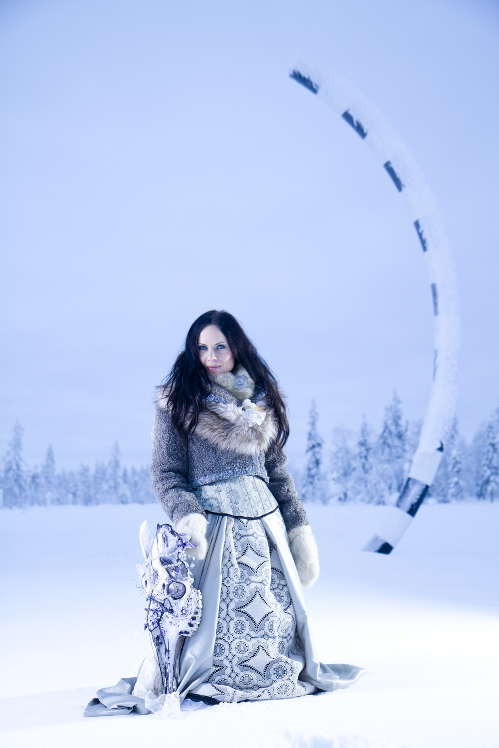 Petra Shara Stoor at the polar circle in Sweden. Photo: Fredrik Broman - Human Spectra
