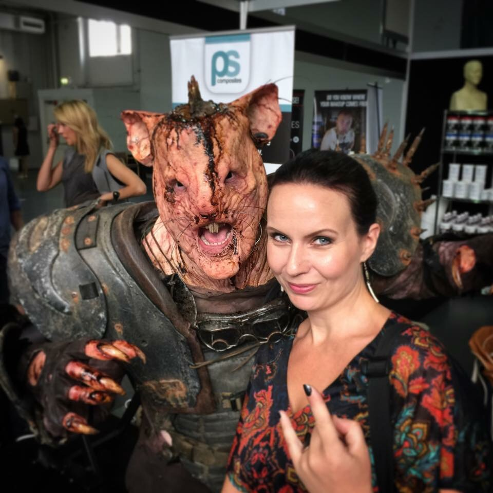 Me and a fantastic creature created by Makeup artist Kenny Myers!