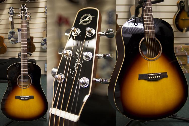 Seagull Coastline S6 Sunburst Acoustic Guitar 039296 Larrys