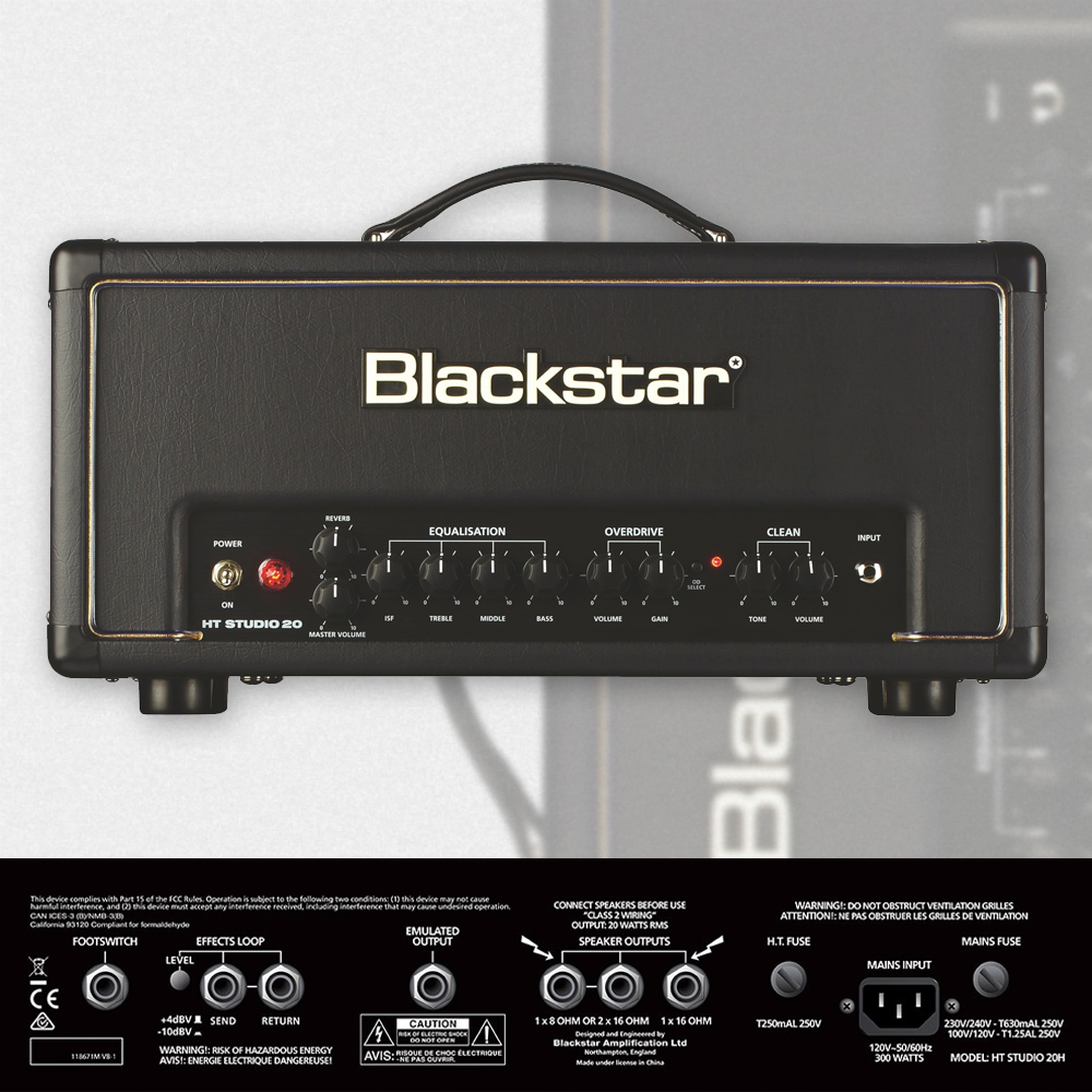 Blackstar Ht Studio 20 Head 20w Tube Amp Larrys Music Sound Power Amplifier With El34