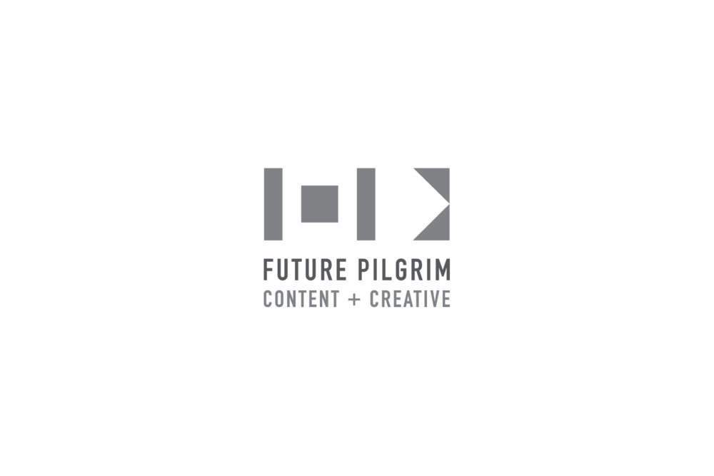 Future Pilgrim: logo for a multi-modal creative agency in Los Angeles, CA