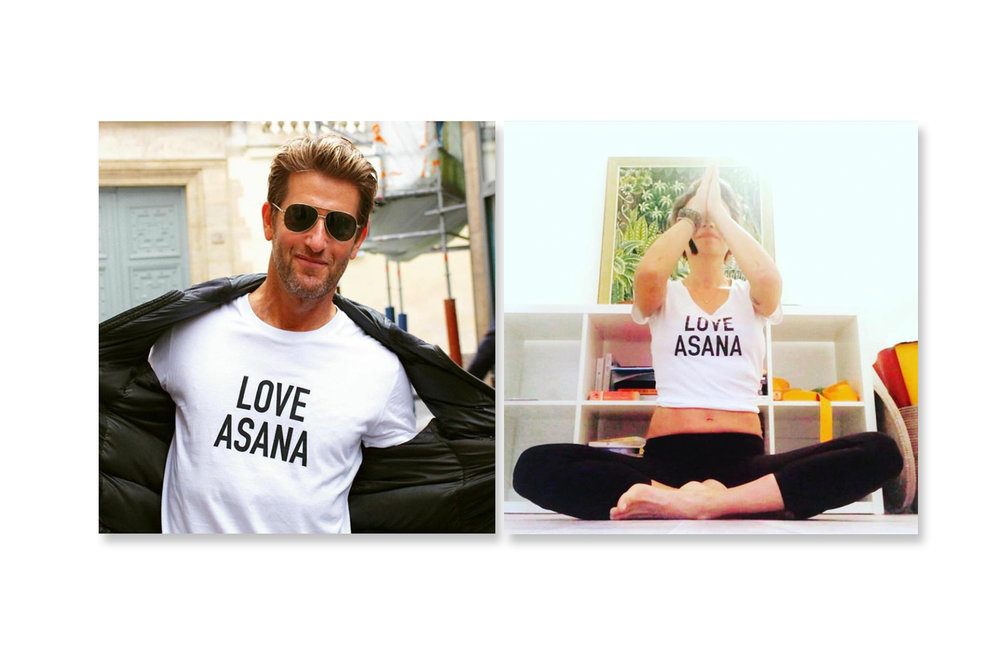 Yoga Concept: Loveasana t-shirt (front)